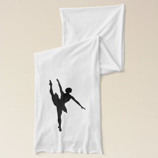 Ballet Text with Ballerina Silhouette in Black Scarf