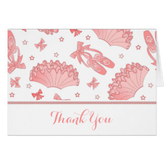 Ballet Theme Thank You Card