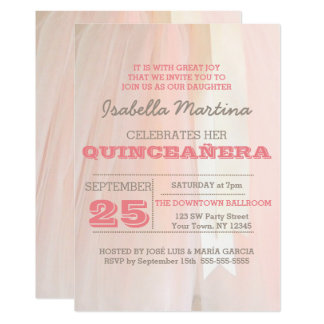 Ballet Tutu Quinceañera Invitation