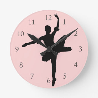 Ballet with Numbers Round Clock