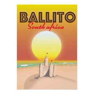 Ballito South african travel poster