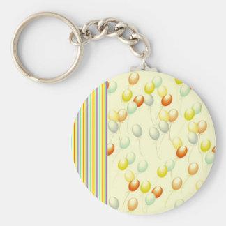 Ballon Basic Round Button Key Ring