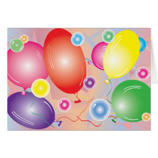 Ballons & Bubbles greating card