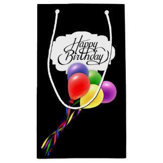 Balloon-a-Palooza Black Birthday Gift Bag