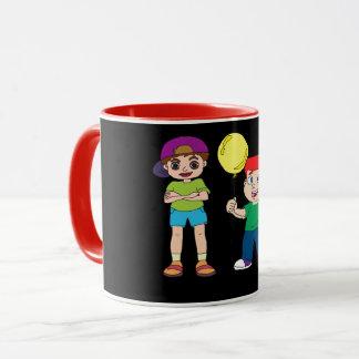 balloon  and cap boy mug