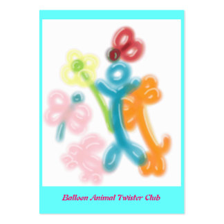 Balloon Animal Twister Profile Card Business Cards