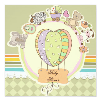 Balloon Baby Shower Invitation