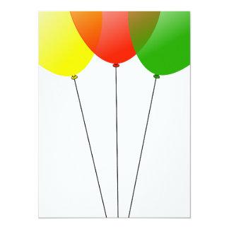 Balloon balloons custom personalize Anniversaries 14 Cm X 19 Cm Invitation Card