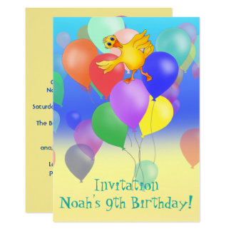 Balloon Birthday Invite by The Happy Juul Company