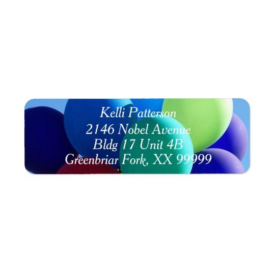 Balloon Blues Return Address Label