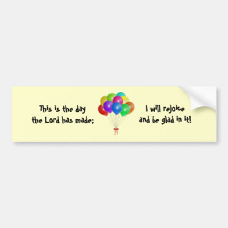 Balloon Bouquet Bumper Sticker
