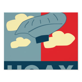 Balloon Boy Hoax (Obama Spoof) 11 Cm X 14 Cm Invitation Card