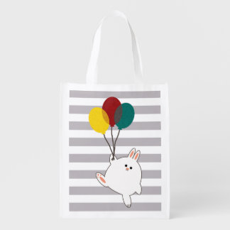 Balloon Bunny Reusable Grocery Bag