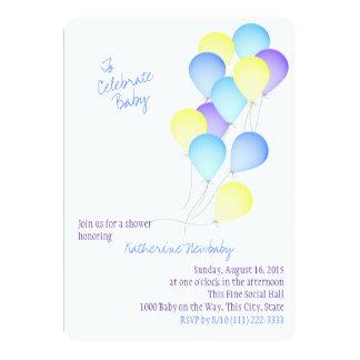 Balloon Celebration Baby Shower Custom Invitation