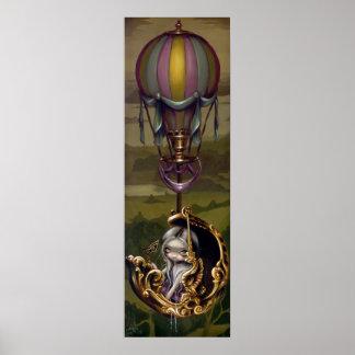 Balloon Chariot - Rococo Steampunk Art Print