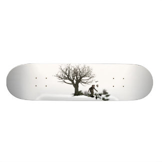 Balloon Clown Old Tree & Black Birds Original 18.1 Cm Old School Skateboard Deck