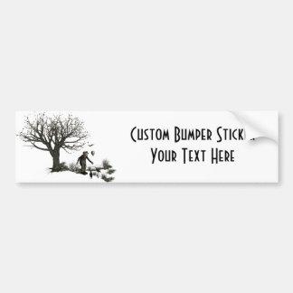 Balloon Clown Old Tree & Black Birds Original Bumper Stickers