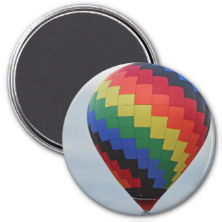 Balloon!   Colorful zigzag! 7.5 Cm Round Magnet
