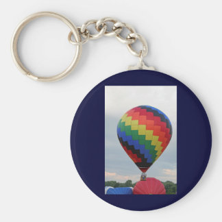 Balloon!   Colorful zigzag! Basic Round Button Key Ring