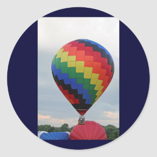 Balloon!   Colorful zigzag! Round Sticker