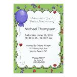 Balloon & Confetti Invitations