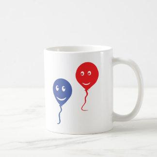 balloon couple blue red mugs