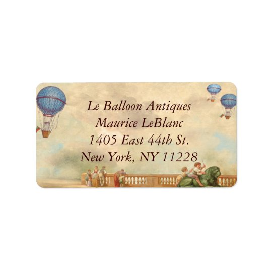 Balloon d'Chaun de Aire Large Address Labels