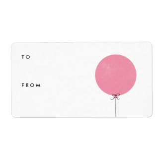 Balloon Gift Tag Label - Rose Shipping Label