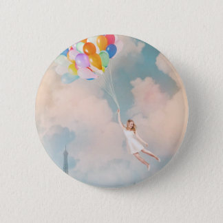 Balloon Girl 6 Cm Round Badge