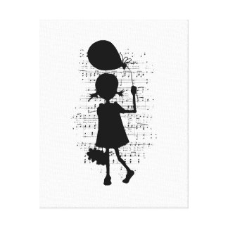Balloon Girl Gallery Wrapped Canvas