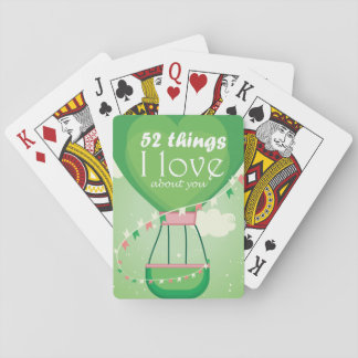 Balloon (green) playing cards
