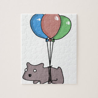 Balloon Hamster Frank by Panel-O-Matic Jigsaw Puzzle