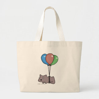 Balloon Hamster Frank by Panel-O-Matic Large Tote Bag