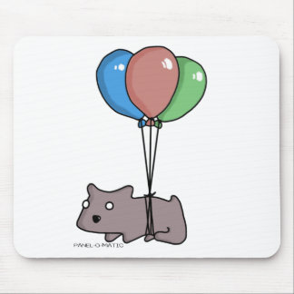 Balloon Hamster Frank by Panel-O-Matic Mouse Pad