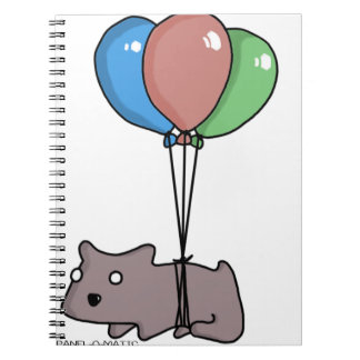 Balloon Hamster Frank by Panel-O-Matic Spiral Notebook