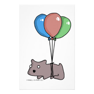 Balloon Hamster Frank by Panel-O-Matic Stationery