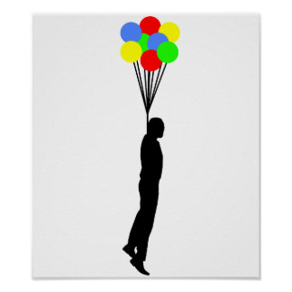 Balloon Hanging Funny Poster