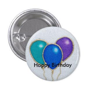 Balloon Happy Birthday Button badge