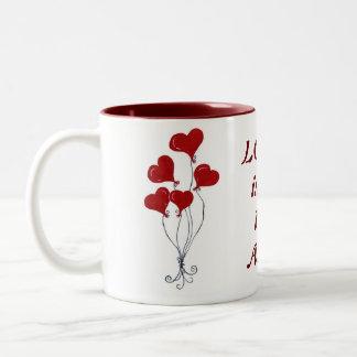 Balloon Hearts Bouquet - Mug