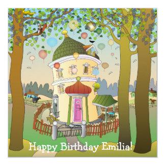 Balloon House Greeting Card 13 Cm X 13 Cm Square Invitation Card