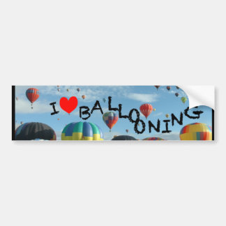 balloon i love ballooning bumper sticker