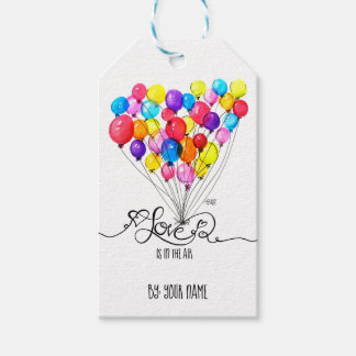 BALLOON LOVE is in the Air | Heart Calligraphy Gift Tags
