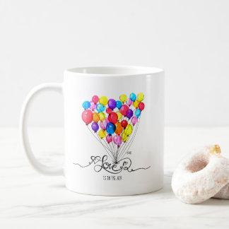 BALLOON LOVE is in the Air | Heart Coffee Mug