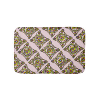 Balloon mandala bath mat cute bohemian pattern bath mats
