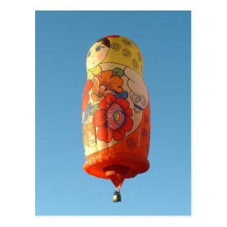 Balloon Matroesjka Postcard