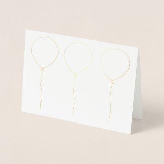Balloon Outline Birthday Foil Card