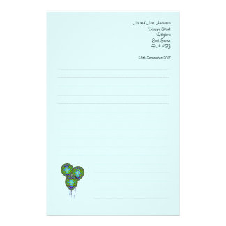 Balloon  Paper Customized Stationery