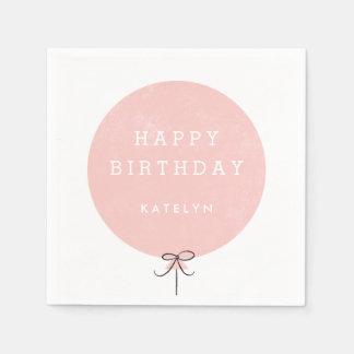 Balloon Party Napkin - Peach Paper Napkins