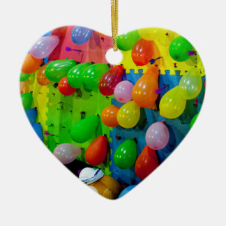Balloon Pop Ceramic Ornament