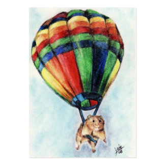 Balloon Ride (Hamster) ACEO Art Trading Cards Pack Of Chubby Business Cards